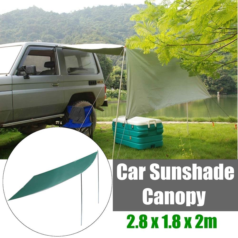 EGECL Car Tent - Folding Sunshade Carports - Anti-UV Roof Top Tent - Car Sun Shelter Awning - Hiking, Climbing, Fishing - Green - 2.8 X 1.8m (Color : Green) by EGECL (Image #1)