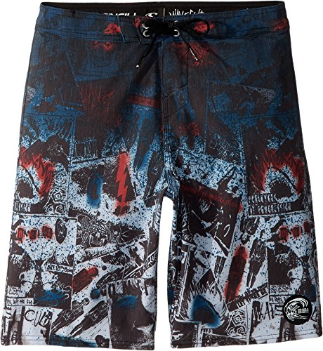 O'Neill Big Boy's Hyperfreak Americore Boardshorts,27,Black by O'Neill