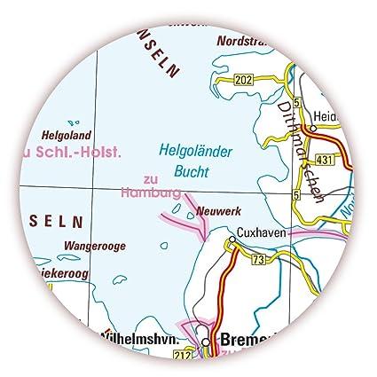 K-712 LYSCO/® Deutschlandkarte DIN A1 Format gefaltet auf DIN A4