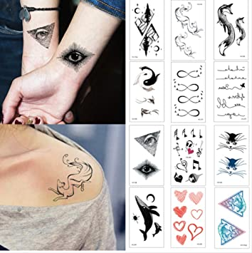 yyyDL etiqueta engomada colorida del tatuaje Diseño lindo Deer ...