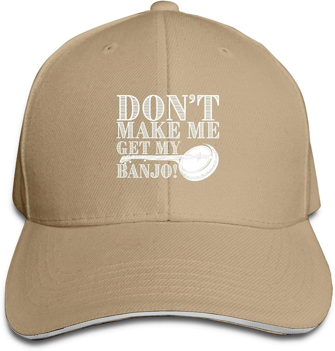 Eugrandet Dont Make Me Get My Banjo Unisex Twill Adjustable Sports Hat