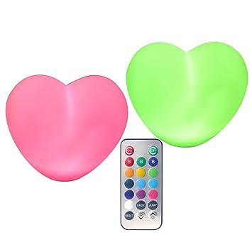 Amazon.com: Corazón Luz Lámpara LED (2 unidades ...