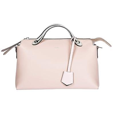 dd7dfc257efb Fendi sac à main femme en cuir tonneau by the way regular rose ...