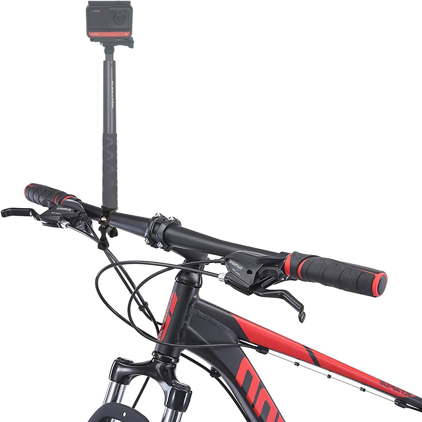 1/4 Handlebar Clamp Bicycle Mount Compatible with Insta360 One R and One X and Samsung Gear 360 and Ricoh Theta