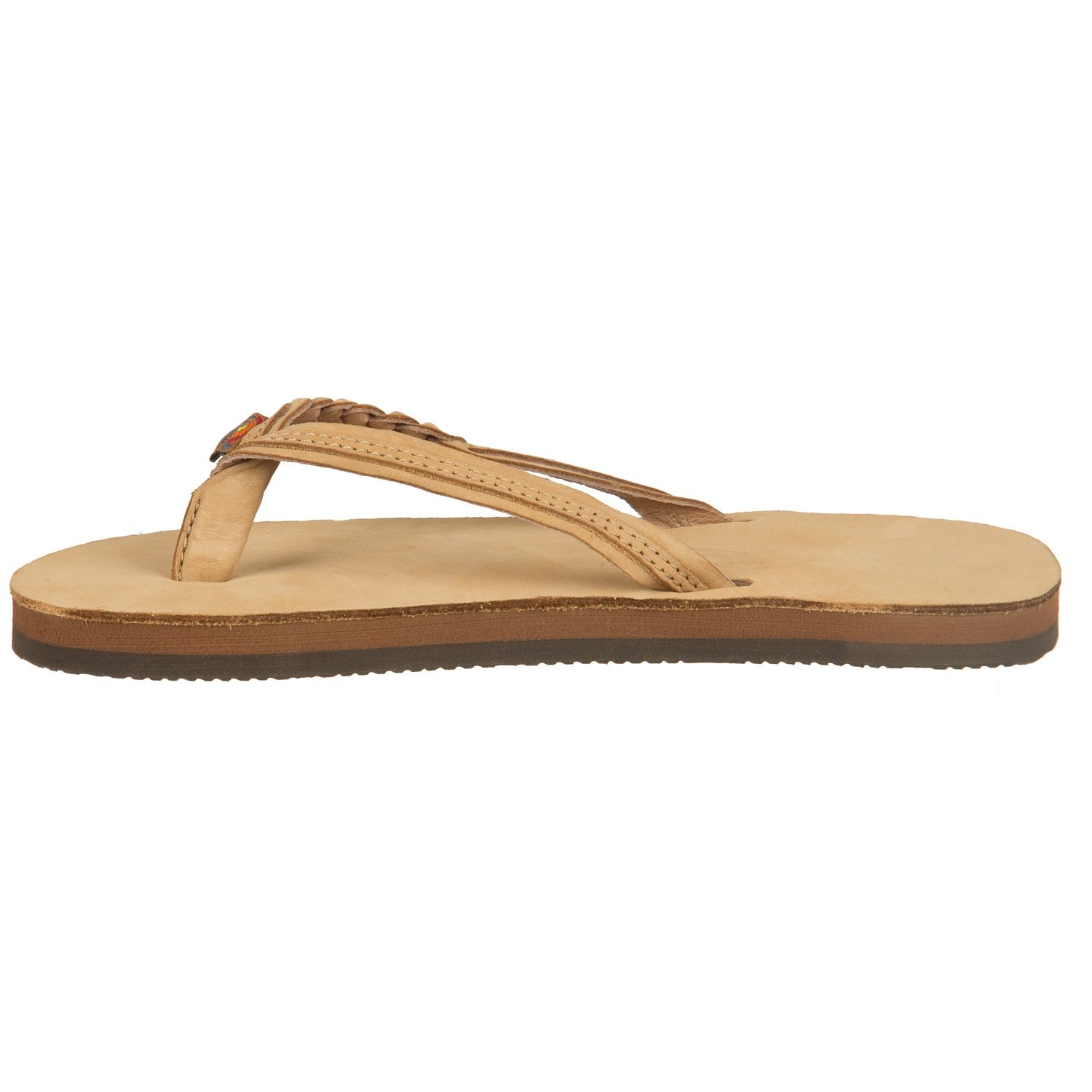 Rainbow Sandals Kids Single Layer Premier Leather Flirty Braidy 101LTSFB EXPR