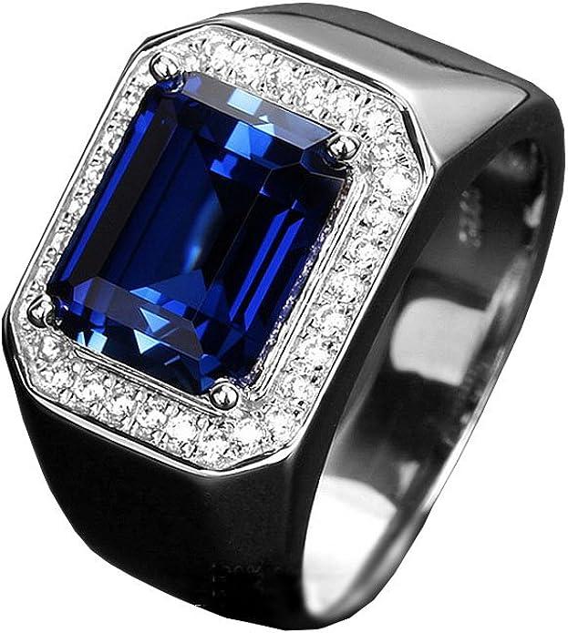 Silver ring narrow Safir sapphire dark blue plain ring silver