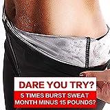 SHENGMI Neoprene Sauna Pants Women - Neoprene Weight Loss Thermo Shapers, Hot Sweat Body Shaper Pants, Fat Burner Workout Capris (XL)