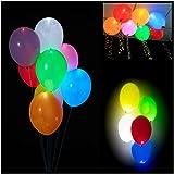Colleer 30 Pz Palloncini Colorati con Luce LED Balloons Luminoso Multicolori per Party, Compleanni, Matrimoni, Decorazione