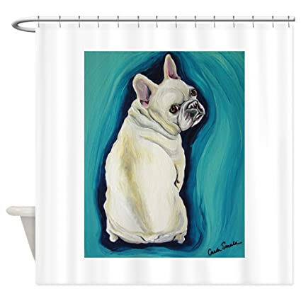 Image Unavailable Not Available For Color CafePress White French Bulldog Shower Curtain