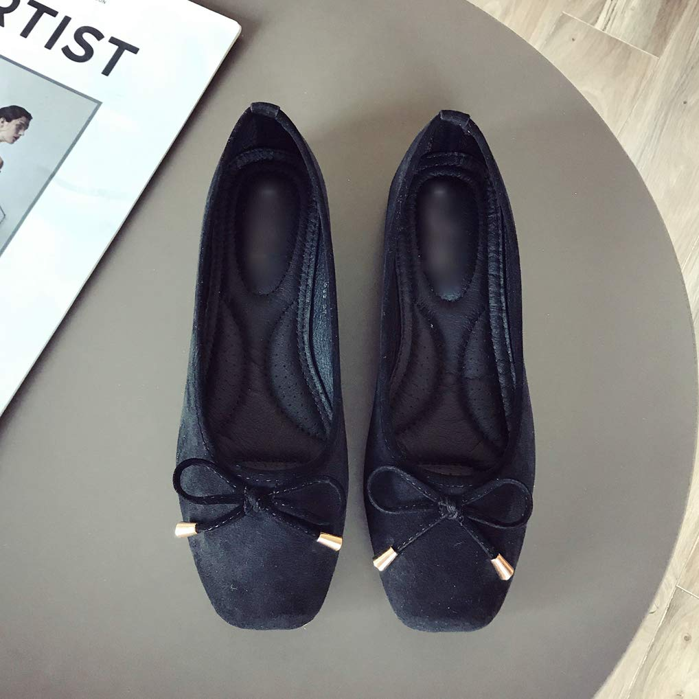 August Jim Womens Round-Toe Slip-On Comfort Soft Ballet Flat Shoes