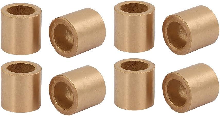 12mmx18mmx12mm métal en poudre manchon bronze doré bague Roulage 4pcs