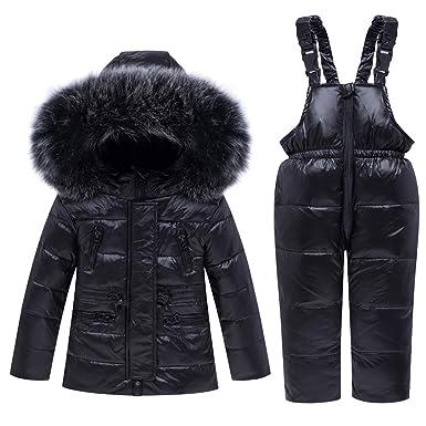 Bebé Unisex 2 Piezas Traje de Nieve cálido Abajo Chaqueta con ...