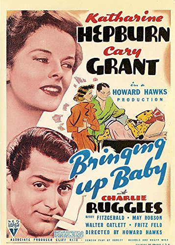 Bringing Up Baby Left From Top Katharine Hepburn Cary Grant On Midget Window Card 1938 Movie Poster Masterprint (11 x 17)
