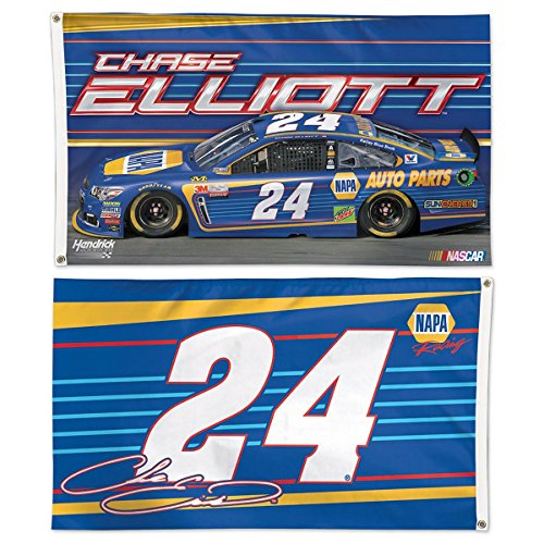 WinCraft Chase Elliot NAPA Auto Parts #24 Double Sided Flag