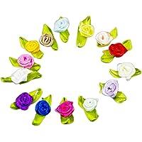 100pcs Chytaii Satén Cinta Flor Rosa Lazo Costura