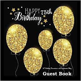 75th Birthday Decorations In All Departments Bling GUEST BOOK Classy Silver Inside Foil Fleur De Lis End Pages Party