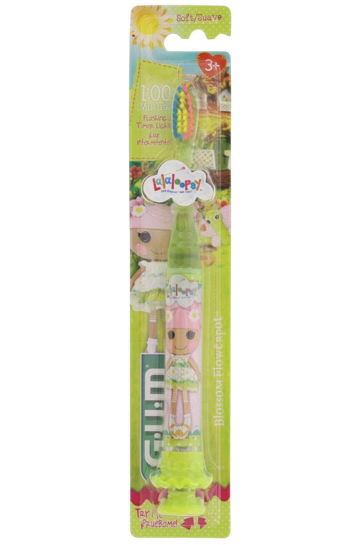GUM Lalaloopsy - Cepillo de dientes con cerdas suaves y ventosa, color verde: Amazon.es: Salud y cuidado personal