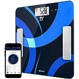 Báscula de Baño Grasa Coporal Bluetooth 4.0 TaoTronics Escala Inteligente con App, con Análisis Corporal, Peso, Índice de Masa, Grasa, Agua, Músculo, BMR y AMR, MEMORIA PARA 12 USUARIOS, FDA