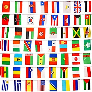 Box of 100 different wold flags country flags for Mundial decor international nv