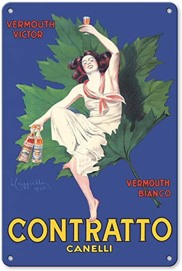 Vintage Orange Martini /& Rossi Vermouth Liqueur Alcohol Ad Poster Reproduction