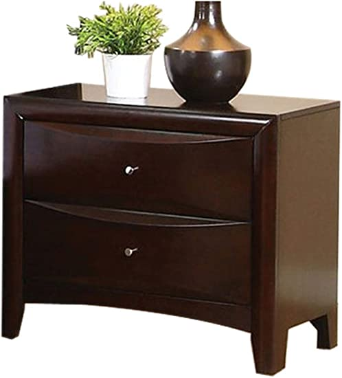 Phoenix 2-drawer Nightstand Cappuccino