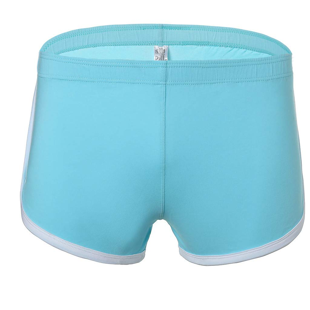 NUWFOR Men's New Summer Cotton Fitness Fast-Drying Sweat-Absorbing Bodybuilding Shorts(Sky Blue,US:S Waist26.0-30.7'')