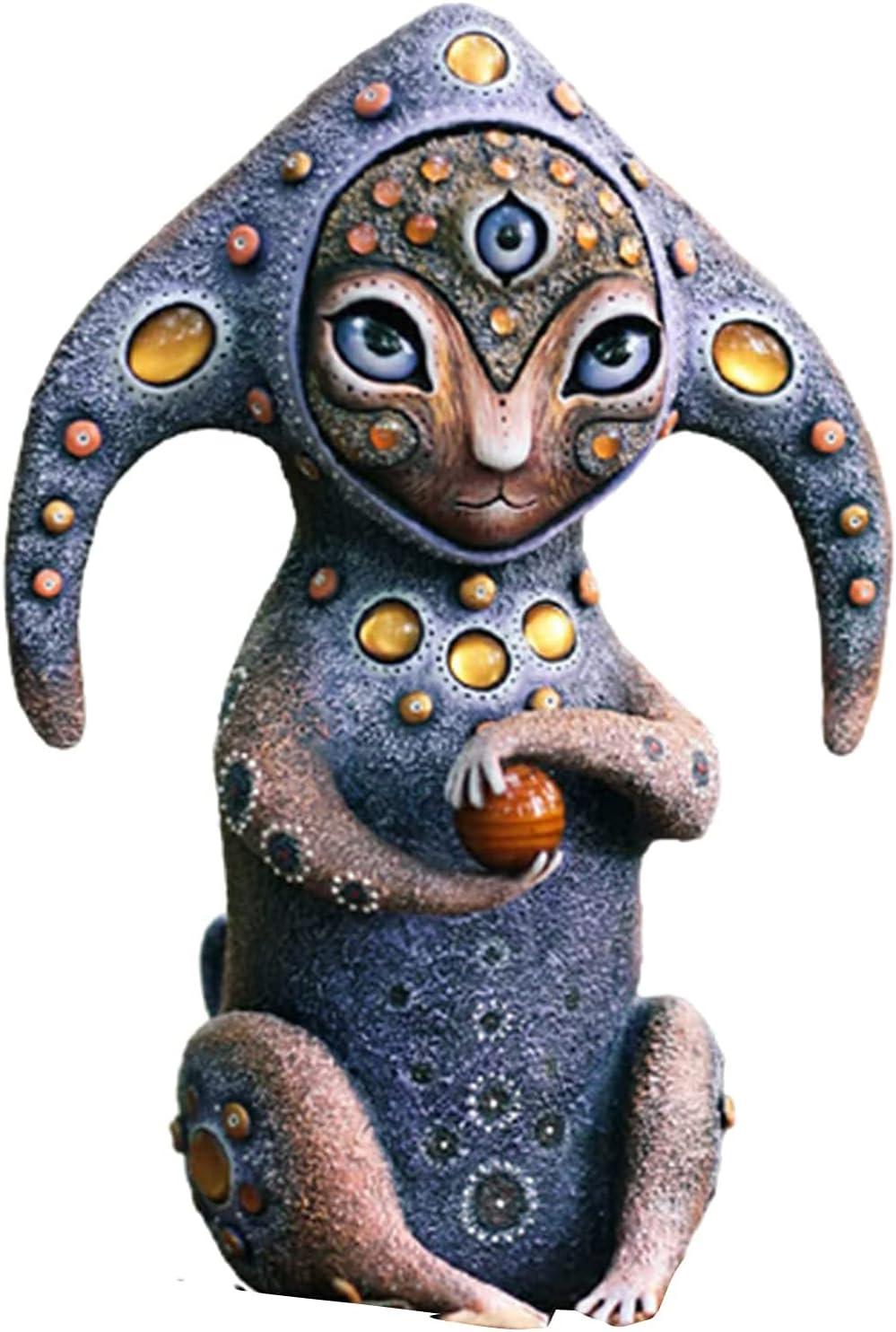 HHJY Creatures from a Fantasy World-Perfect Decoration, Incredible Creatures Toys - Boy Garden Toys, Fantastic Alien Creature Outdoor Statues, Handmade Animals Garden Decor (Planet Guardian)