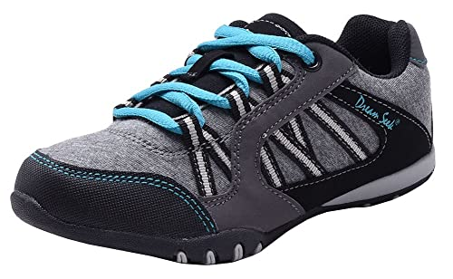 d1a927e195f2e New Girls Tennis Shoes Athletic Sneakers Casual Running Black Gray Navy  Blue Kids Youth