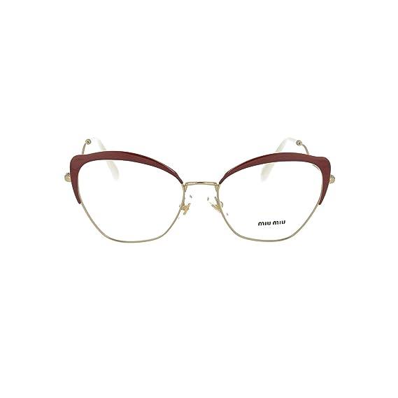 42a911e334c MIU MIU MU 53PV Glasses in Pale Gold MU 53PV ZVN1O1 56  Amazon.co.uk ...
