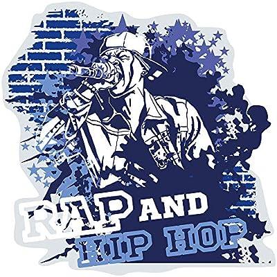 Pegatina de pared Música cuarto de los niños Músicos de rap y hip ...