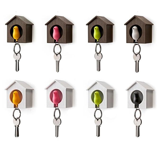 amazoncom sparrow bird house nest whistle key holder chain ring keyholder keychain keyring hanger rack jewelry