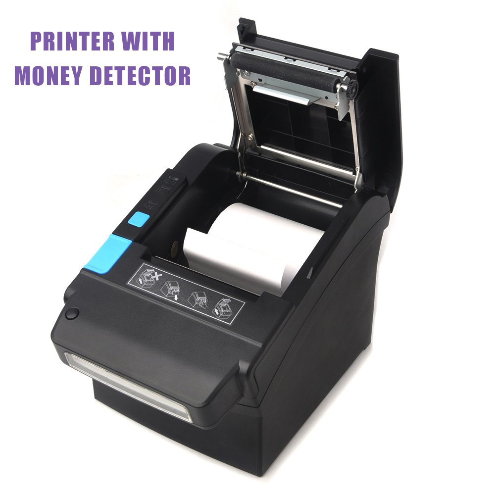 MUNBYN 80mm Thermal Receipt POS Printer With Currency Detector Professional Payment Machine USB Serial Ethernet