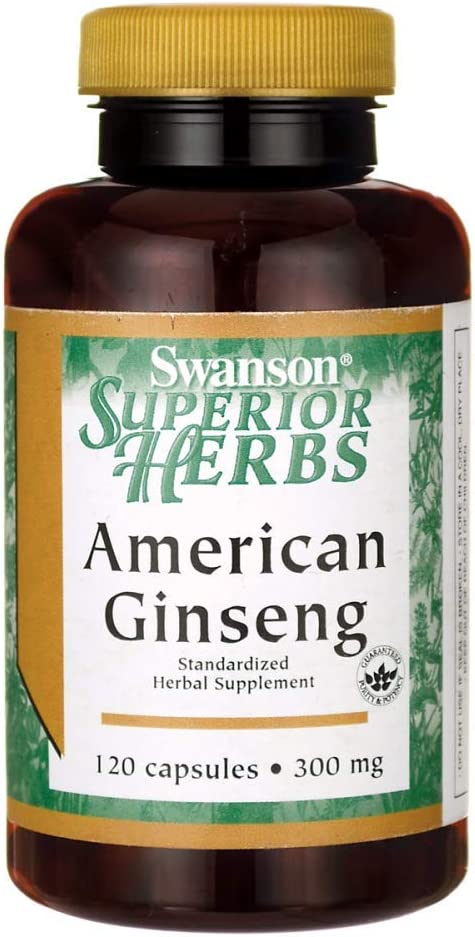 Swanson American Ginseng (Standardized) 300 Milligrams 120 Capsules