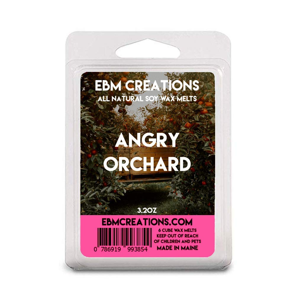 Angry Orchard | Scented All Natural Soy Wax Melts | 6 Cube Clamshell 3.2oz Highly Scented!