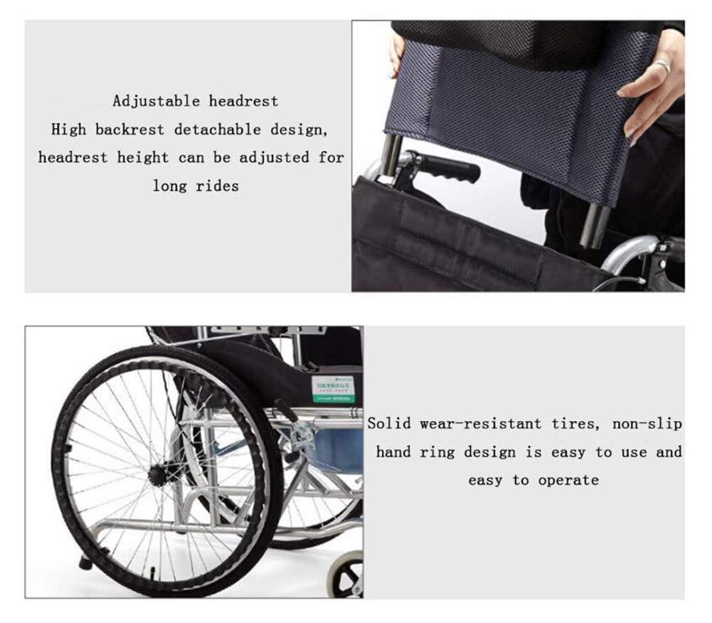 Amazon.com: Silla de ruedas autopropulsada con correa ...