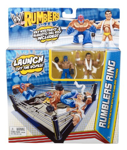 WWE Rumblers Ring Rey Mysterio and Alberto Del Rio Playset (Mysterio Rey Ring)