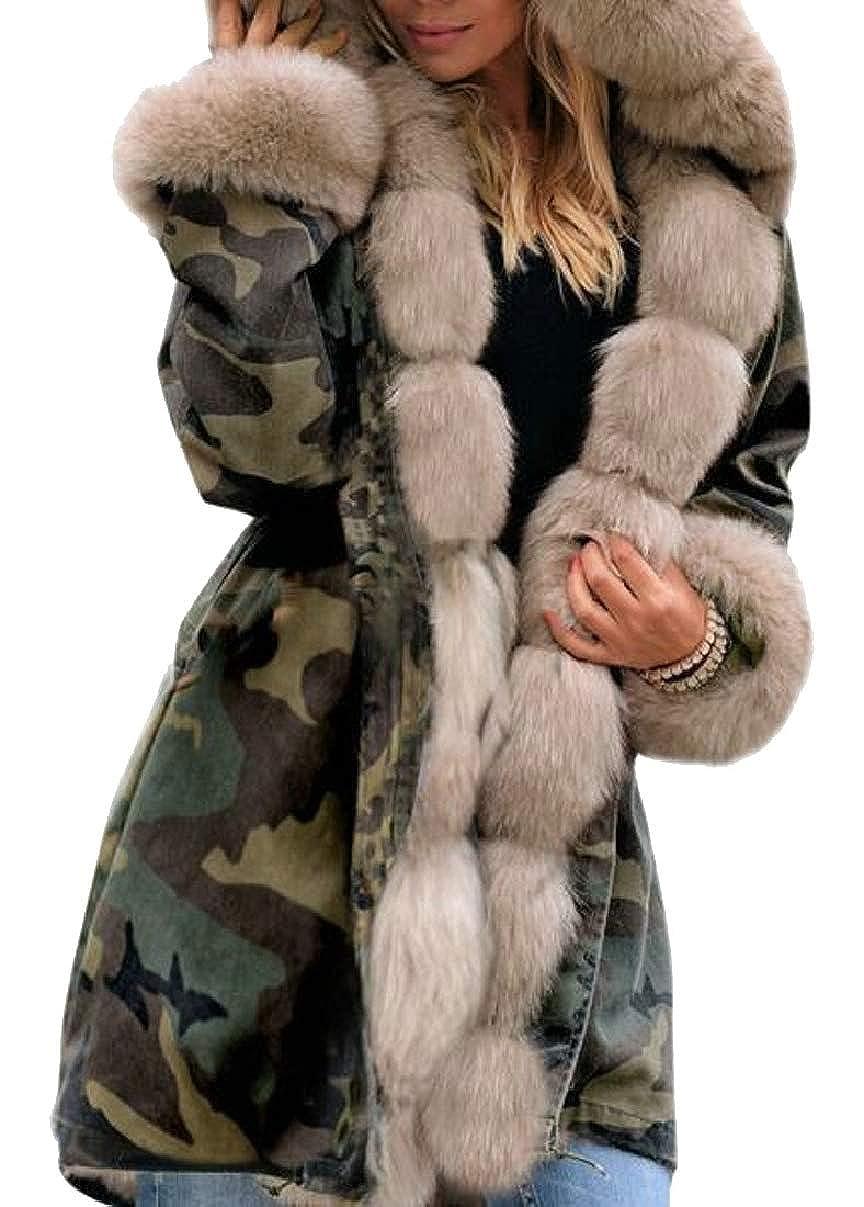 4 LEISHOP Women Winter Warm Hood Parka Overcoat Jacket Outwear