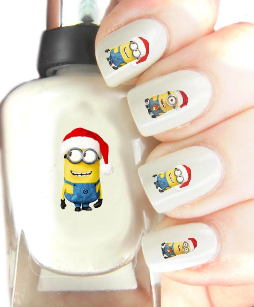 Nail Art Ideas minon nail art : Easy to use nail art transfer stickers Dispicable Me Minions ...