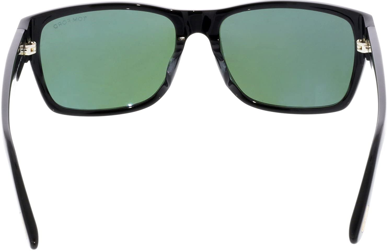 f36e84b706 Sunglasses Tom Ford TF 445-F FT0445-F 01N shiny black   green at Amazon  Men s Clothing store