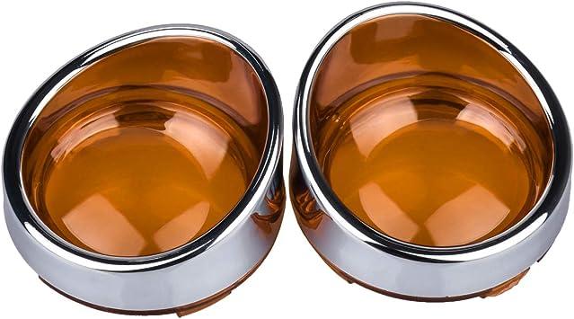 NATGIC color naranja Tapa de luz para intermitente de motocicleta para cualquier modelo de Harley Davidson como Dyna Softail Sportster V-Rod