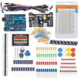 Diymall Beginner Learning Kit for Arudino Kits Electronic Fans Breadboard Cable Resistor Capacitor LED Potentiometer