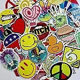 #1: Laptop stickers, PK-STAR [100 pcs] Laptop Motorcycle Skateboard Luggage Graffiti Bumper Stickers-Random Patterns