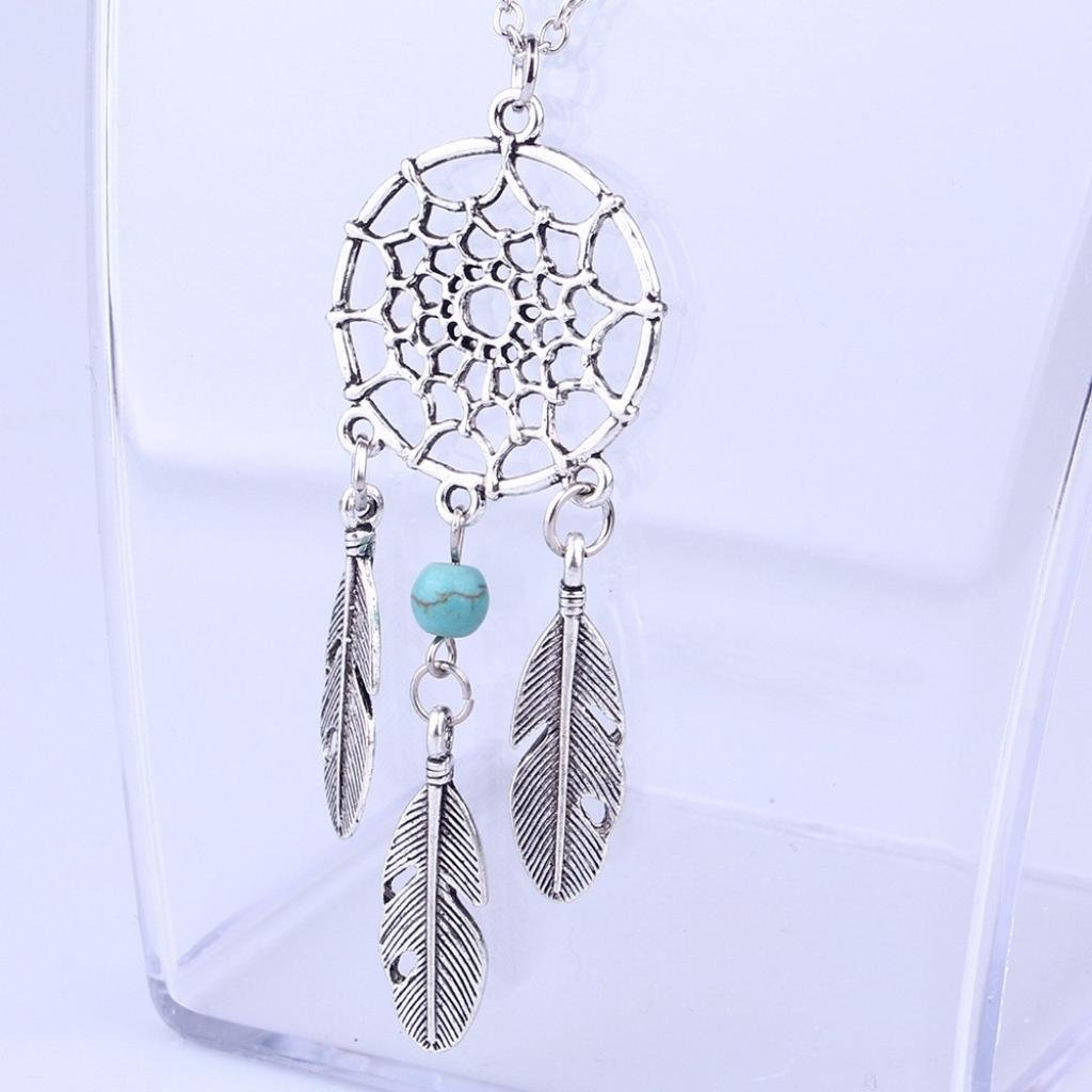 NEARTIME Women Necklace Girls Retro Jewelry Dream Catcher Pendant Chain Necklaces