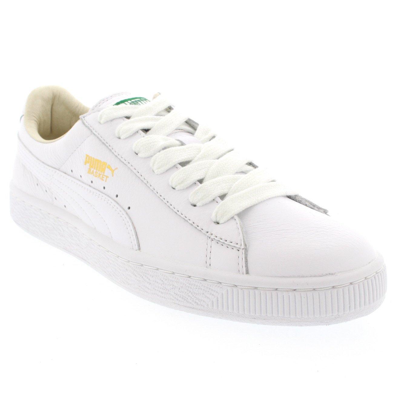 huge selection of 5eb85 8e1d8 Amazon.com | PUMA Mens Basket Classic Leather Low Cut White ...
