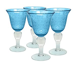 Artland 50505B Glass Goblet One Size Turquoise