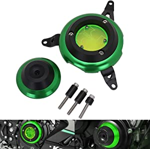 Engine Guard Stator Case Cover Crash Pad Frame Slider Protector For Kawasaki Ninja 400 2018-2019 - Green