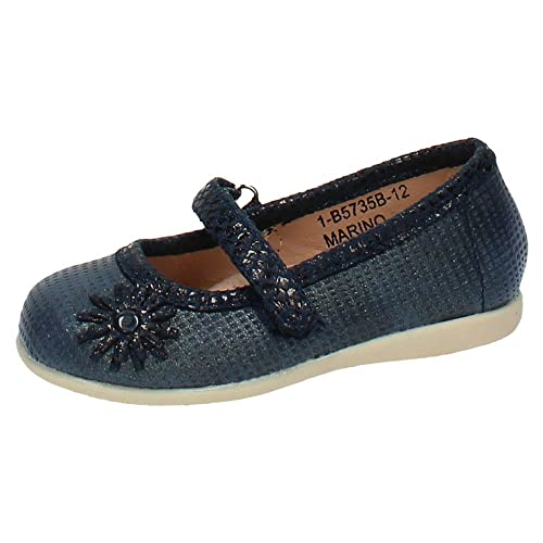 3b4a2e631 BONINO 1-B5735B-12 Zapatos Azules Bebe NIÑA Merceditas  Amazon.es  Zapatos  y complementos