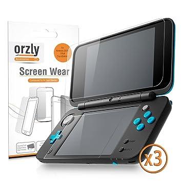 2DSXL Protectores de Pantalla, Orzly Multi-Pack de 6 Protectores (3 para la pantalla de arriba, y 3 para la pantalla de abajo) – 100% TRANSPARENTE ...