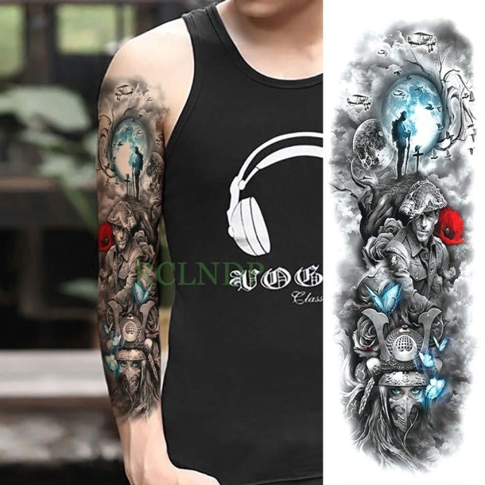 tzxdbh 5Pcs-Etiqueta engomada del Tatuaje a Prueba de Agua ...