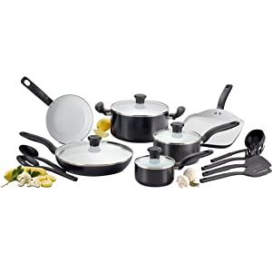 T-fal C921SE Ceramic Nonstick Cookware Set